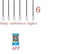 economico -1 set auto atmosfera ambientale lampadina luce rgb modalità multiple app controllo del suono auto interna decorativa barra luminosa a led 1 per 6
