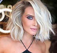 abordables -perruque dorée beauté moelleux perruque de cheveux bouclés courts coiffures synthétiques en soie haute température 14 pouces