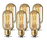 economico -6 pz 4 pz 40 w e26 e27 t45 giallo caldo 1400-2800 k retro dimmerabile decorativo incandescente vintage lampadina edison 220-240 v