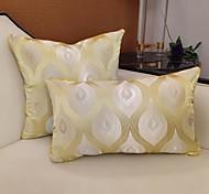 abordables -housse de coussin 2pcs lin doux phoenix fleur jacquard carré housse de coussin taie de coussin taie d'oreiller pour canapé chambre 45 x 45 cm (18 x 28 pouces) qualité supérieure lavable en machine