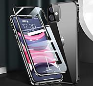 economico -telefono Custodia Per Apple Integrale iPhone 12 Pro Max 11 SE 2020 X XR XS Max Resistente agli urti A calamita Protezione per obiettivo della fotocamera Tinta unica Metallo