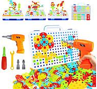 abordables -Blocs de Construction Jeu de construction Jouets Ensemble de perceuse 237 pcs Jouet Vapeur compatible ABS + PC Legoing Transformable Éducatif Garçon Fille Jouet Cadeau / Enfant