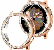 economico -compatibile samsung galaxy watch active 2 case bling 40mm, women girl crystal diamond watch bezel bumper protector lucido watch face case cover per samsung active2 40mm (40mm)
