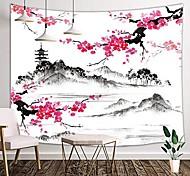 abordables -encre de Chine peinture style tapisserie murale art décor couverture rideau suspendu maison chambre salon décoration paysage montagne fleur floral tour 150 * 100 cm