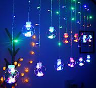abordables -2.5m 12 boule souhaitant boule rideau LED guirlande lumineuse blanc chaud fée colorée flexible chaîne d'éclairage pour arbre de noël nouvel an vitrine décoration AC220V 230V 240V prise UE