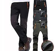 abordables -Homme Pantalons de Randonnée Pantalons Softshell Hiver Extérieur Chaud Etanche Coupe Vent Doublure Polaire Toison Pantalons / Surpantalons Bas Noir Vert Véronèse Gris Ski Camping / Randonnée Chasse S
