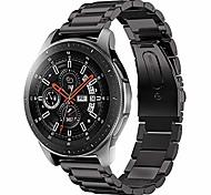 economico -compatibile per cinturini per samsung galaxy da 46 mm, cinturino in acciaio inossidabile per samsung galaxy watch sm-800 smart watch - nero