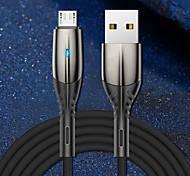 economico -Micro USB USB C Cavi Alta velocità Carica rapida Trasmissione dati 3 A 1.0m (3 piedi) PVC Per Xiaomi MI Samsung Huawei Appendini per cellulare