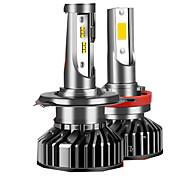 abordables -hlxg h7 led h4 h11 ampoule de phare de voiture led h8 hb4 hb3 9005 9006 h1 12000lm 20000lm mini turbo led lampe antibrouillard 5000k 6000k 12v
