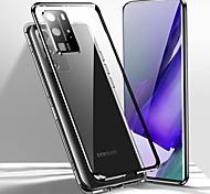 economico -telefono Custodia Per Samsung Galaxy Integrale Custodia ad adsorbimento magnetico S20 Plus S20 Ultra S20 Note 20 Ultra Resistente agli urti Doppia setola Protezione per obiettivo della fotocamera