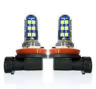 abordables -otolampara 2 unités voiture led antibrouillard h11 h9 12w source de lumière de troisième génération couleur orange double côtés ampoule de feu antibrouillard led h8 installation plug and play