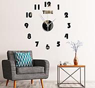 abordables -DIY miroir acrylique matériel simple face stickers muraux style moderne mur quartz horloges décor à la maison montres murales