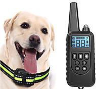 economico -Addestramento del cane Collare antiurto LCD Elettrico Prodotti per cani Animali domestici Riflessivo Allenamento Anti corteccia ricaricabile Kit comportamentale Addestramento di obbedienza Per
