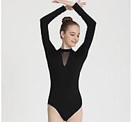 economico -Danza classica Calzamaglia / Pigiama intero Tinta unita Per donna Addestramento Prestazioni Manica lunga Naturale Nylon Elastene