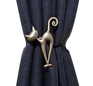 abordables -cravate de rideau de haute qualité avec boucle magnétique boucle magnétique de rideau de cravate créative sans poinçon