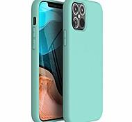 abordables -Zuslab Nano Silicone Compatible avec iPhone 12 / iPhone 12 Pro Case 2020 Coque de protection complète souple en caoutchouc de silicone liquide - Menthe