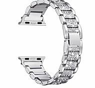 economico -cinturini bling compatibili con cinturino apple watch 42mm 44mm donna iwatch serie se 6/5/4/3/2/1, elegante bracciale in metallo gioielli con strass, argento