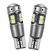 abordables -2 pcs Haute Qualité T10 W5W Super Lumineux 3030 LED Voiture Intérieur De Lecture Dôme Lumière Marqueur Lampe 168194 LED Auto Coin Parking Ampoules