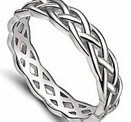 economico -Anello a fascia per matrimonio eternity con nodo celtico in acciaio inossidabile da 4 mm (argento, 10)