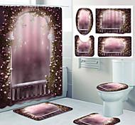 abordables -motif de porte de rêve impression salle de bain rideau de douche toilettes de loisirs conception en quatre pièces