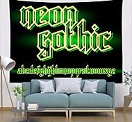 abordables -tapisserie murale art déco couverture rideau pique-nique table tissu suspendu maison chambre salon dortoir décoration fibre de polyester nature morte moderne néon vert clair anglais