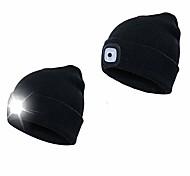 economico -cappello beanie led, cappello beanie a 4 led neutri alimentato a batteria, regali invernali da uomo e da donna per escursionismo, ciclismo, campeggio, riparazione auto, passeggiate notturne (nero)