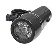 abordables -vélo lumière cycle zone étanche 5 led vélo lumière vélo phare lampe de poche de sécurité (noir)