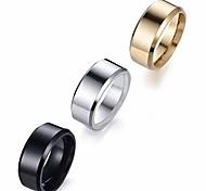 abordables -8mm 3pcs mode simple unisexe en acier inoxydable classique bande de mariage miroir anneaux tailles 6-14