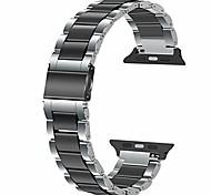 economico -cinturino in acciaio inossidabile compatibile con apple watch 44mm 42mm 40mm 38mm orologio cinturino sportivo compatibile per iwatch se apple watch series 6 se 5 4 3 2 1 argento nero sgancio rapido