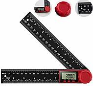 economico -righello goniometro digitale goniometro digitale 200mm display lcd a 360 ° righello di vetro di nylon metro strumento di misura con funzione di azzeramento e blocco