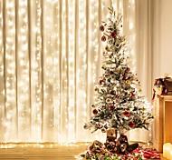 abordables -3mx3m 300LED guirlande de noël guirlande lumineuse guirlande lumineuse pour rideaux maison chambre décoration lumière extérieure lumières de vacances