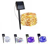abordables -LED lumière solaire 10m 100leds extérieur étanche guirlande de fées guirlande lumières patio jardin fête lampe solaire décoration