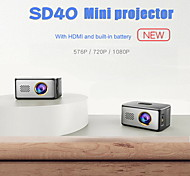 economico -sd40 mini proiettore da intrattenimento portatile mini proiettore a led multimedia hd 1080p video movie home theater proiettore per cinema