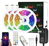 abordables -5m 10m 15m 20m Bluetooth application de contrôle de synchronisation de la musique DC12V LED lumières changement de couleur flexible SMD 5050 avec télécommande IR et kit adaptateur
