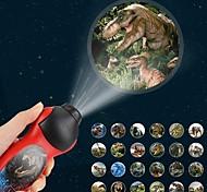abordables -Lampes de poche Projecteurs Dinosaure Eclairage LED Jouets étranges Alimenté par des piles Pile bouton Enfant pour des cadeaux d'anniversaire et des cadeaux 1 pcs Usage quotidien