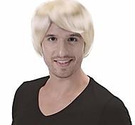 economico -parrucca corta sidewept per uomo-anni '60 anni '70 costume da uomo adulto cosplay parrucche di natale di halloween (bionda)