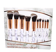 abordables -10 pièces de pinceau de maquillage en marbre 5 grands 5 petits pinceaux de maquillage ensemble d'outils de beauté ensemble de pinceaux de maquillage en marbre