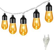 abordables -5m 20led ampoule rétro ampoule acrylique guirlande lumineuse jardin lumière décoration de fête de noël lumière mariage monde de conte de fées contrôleur à 8 modes peut être connecté en série nouveau