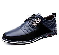 abordables -Homme Oxfords Chaussures de conduite Entreprise Marche Polyuréthane Poids Léger Noir Bleu Marron Printemps été
