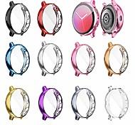 abordables -Compatible avec Samsung Galaxy Watch Active 2 Boîtier de 40 mm SM-R830, Protecteur de boîtier résistant aux rayures Etui de protection plaqué tpu souple et flexible (10 pièces)
