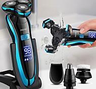 abordables -Affichage LCD numérique hommes rasoir électrique usb rechargeable rasoir machine à raser tondeuse à barbe lavable humide sec étanche