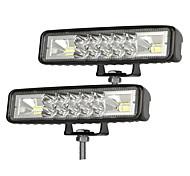 abordables -2 pièces 6 pouces LED travail barre lumineuse combo spot inondation conduite hors route SUV bateau ATV LED jour conduite antibrouillard projecteur