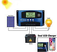 abordables -60amppt mise au point automatique d actuel haute efficacité charge et décharge contrôleur solaire d'affichage de courant