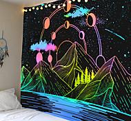 abordables -tapisserie murale art décor couverture rideau pique-nique nappe suspendu maison chambre salon dortoir décoration montagnes ciel étoilé lune