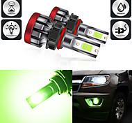 abordables -2pcs couleur de la lumière verte LED lampe de phare de voiture antibrouillard ampoules H8 / H11 880/881 5202 9005 9006 P13W phare antibrouillard automobile