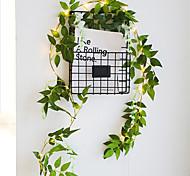 abordables -1x 2m 20 led plantes artificielles chaîne feuille vert clair avec fleur lierre vigne fée guirlande lumineuse guirlande lampe bricolage suspendu maison décoration intérieure éclairage aa batterie
