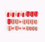 economico -24pcs nuova serie geometrica unghie finte finite nail art patch unghie finte che indossano nail art nail patch color nail patch