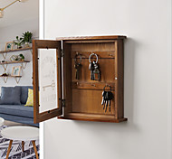 abordables -Boîte de rangement à clés porte suspendue salon créatif ménage finition décoration porche clé de stockage ornement boîte à clés