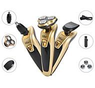 abordables -Hommes rasoir électrique rechargeable tondeuse à barbe lavable humide sèche barbe machine de découpe rasoir flottant multifonctionnel