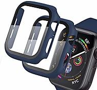 abordables -[Lot de 2] étui compatible pour Apple Watch série 3/2/1 38 mm avec protecteur d'écran en verre trempé Slim Matte Hard Bumper Full Protection Cover pour iwatch 38 mm (bleu)